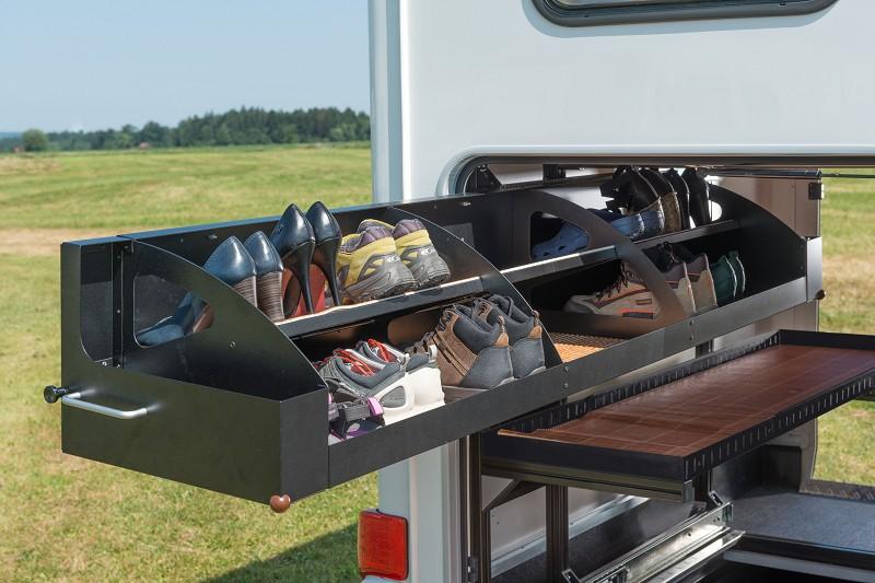 Rangement chaussures camping car accessoires in dits et for Schuhschrank aluminium